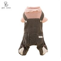 Wholesale Padded Shirt Small - pet_love 2017 new pattern lace straps four feet cotton-padded clothes pet clothes tidy Autumn and winter dog clothes outerwears