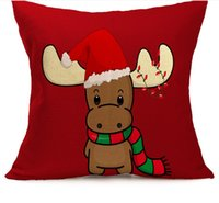 Compra Cuscini Del Sedile-Natale Pillowcases Natale Pillow Case Biancheria Natale Natale Decorato Decorato Cuscino Cover Cuscino Cassa Autovettura Pillowcase Popolare