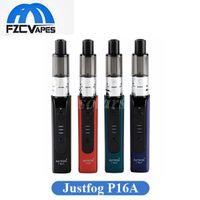 ingrosso vaporizzatore di justfog-Authentic Starter Kit Justfog P16A 900mAh Personal Vaporizer con 1.9ml OCC Serbatoio Variabile Voltage E Kit sigaretta 100% Originale