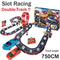 Wholesale Wholesale Brain Training Toys - Baisiqi slot racing F1 equation car Double-Track contest Track Toys ABS Charging Track Racing car sets toys Track length 750cm brain game