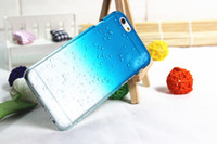 Wholesale Iphone Cases Drip - case for iphone 5 5S 3D Water Drop Dripping crystal Cover gradual change color design 10pcs a lot free shipping