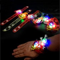 LED piscando pulseira de abóbora pulseira de crânio pulseira Kids Light Up Brinquedos Halloween Christmas Decor Party Favor