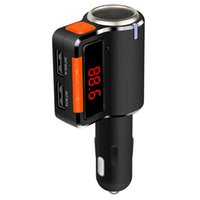 Wholesale Wireless Bluetooth Mobile Charger - Car MP3 Audio Player Bluetooth FM Transmitter Wireless FM Modulator Car Kit HandsFree LCD Display USB Charger for Mobile BC09