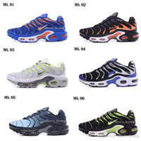 Wholesale Tn Sneakers - Hight Quality Brand New Men's Air Sports TN Running shoes Black Grey Mens Athletic jogging Tennis Shoes Man Sneakers Size 7-11
