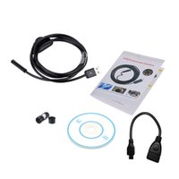Wholesale 7mm Waterproof Camera - Waterproof 7mm 2M USB Endoscope Inspection Camera Borescope For Android Snake Scope with Snapshot Button 6pcs LED Endoscopio