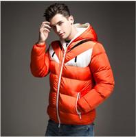 mavi palto toptan satış-Erkek Kış Ceket ve Mont Moda Kapüşonlu Erkekler Ceket Nedensel Sıcak Palto için Erkek Kalın Pardesü Pamuk Yastıklı Lacivert