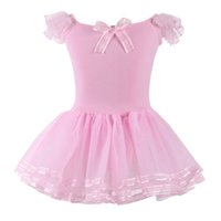 Wholesale Dancewear Dress For Kids - 2016 Lace Ballet Dance Dress For Girls Kids Party Ballet Tutu dress Children Ballerina Dancewear Princess Ballet Costumes S3