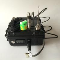 e calentadores de cigarrillos al por mayor-Venta caliente portátil E Digital Nail Kit Vaporizador WAX Dry Herb E Cigarettes contienen 6in1 Ti / Qtz híbrido dab clavo calentador bobina