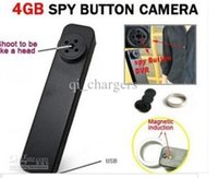 Wholesale Button Camera Mic - Tiny Hidden Spy Button Camera DVR HD 640P AVI Audio Mic 30 FPS Secret Mini Camcorder Wireless Video Recorder 4GB MP-900 2013 Hot Sale