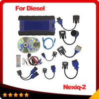 Wholesale Diagnostic Code Nexiq - 2016 New NEXIQ USB Link Truck Diagnostic Tool With Full Set NEXIQ 2 USB Link With Software Diesel Truck Interface DHL free