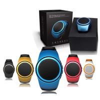 Wholesale Watch Music Box - Mini Watch B20 Bluetooth Movement Music Watch Portable Bluetooth 2.1+EDR Sport Speaker TF Card FM Audio Radio Speakers