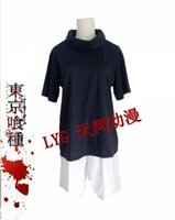 Wholesale New Arrival Anime Tokyo Ghoul Kaneki Ken Cosplay Costume Halloween Costume full set tops short pants s xxl