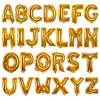 Wholesale Wholesale Halloween Inflatables - Gold Silver 16inch Alphabet English Letter A-Z Number 0-9 Inflatable Aluminum Balloons Birthday Wedding Party Decoration Foil Balloon