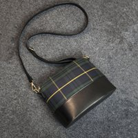 Wholesale Yellow Cross Body Purse - High quality Casual plaid cross body handbags new fashion clutches ladies party purse women crossbody shoulder messenger bags
