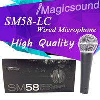 Wholesale Dynamic Vocal Microphone - New High Quality SM58LC SM 58 58LC Wired Dynamic Cardioid Professional Microphone Legendary Vocal Microfone Mike Mic