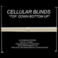 Wholesale Vertical Blinds Slats - Cellular Honeycomb Blinds(Cordless top down bottom up) custom made size Free Shipping