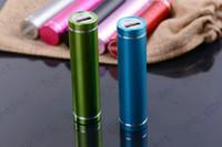 batería de reserva de la batería del teléfono móvil al por mayor-Paquete de cargador de batería de respaldo externo de cilindro de energía móvil universal para teléfonos móviles con empaquetado al por menor 1000pcs / lot
