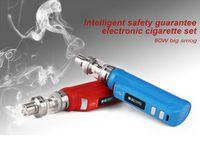 Wholesale Electronic Cigarette Kits Oem - electronic cigarette 80W large smoke sets temperature control vape pens kits atomizer vaporizer battery capacity 2500MA OEM customization