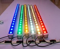 Wholesale Led Wall Washers Pricing - Factory Price!!! Outdoor lighting led flood light 12W 18W LED wall washer light lamp staining light bar light AC85-265V RGB for many colors