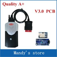 Wholesale New Cdp Plus Quality - Wholesale- Quality A+ V3.0 PCB New Vci 2015.R3 Keygen Software For VD TCS cdp pro plus with LED cables Scanner for cars trucks same as mvd
