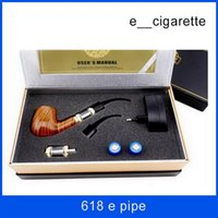 Wholesale Electronic Cigarette Box Set - Pipe 618 E-pipe e cigarette cig ego starter kit electronic cigarette Set Luxury smoking pipe style smoking 2.5ML Clearomizer gift box
