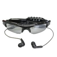 Wholesale Mp3 Player Camera Fashion - Fashion Spy Camera Sunglasses with MP3 Player Audio Video Recording Photo Tacking Mini Eyewear DV 720*480 PC webcam