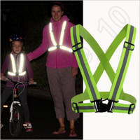 Wholesale Sports Tap - 120pcs CCA3742 New Safety Clothing Cheap Chaleco Reflectante Reflective 3M Fabric Material Strip Tap Band Vest Jacket Sports Outdoor Gear