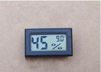 Wholesale Humidity Hygrometer Mini - 500pcs 2016 FY-11 Mini Digital LCD Environment Thermometer Hygrometer Humidity Temperature Meter In room refrigerator icebox