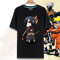 Wholesale Kakashi Shirt - Wholesale-Japan Anime Naruto T-shirt Cartoon Print Sasuke Uchiha Kakashi Hatake Naruto T Shirt Summer Short Sleeve Men Tshirt
