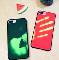 Wholesale funny hard case online – custom Fashion Physical Matte Thermal Sensor Discoloration Hard Plastic PC Case Funny Heat Sensitive Induction Cover Back Skin For iphone Plus