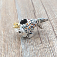 bracelet de pêche achat en gros de-Authentique perle en plaqué or 14 carats en argent Sterling 925