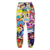 emoji s großhandel-Wholesale-2016 New Fashion Männer / Frauen Jogginghose 3D Emoji Cartoon Jogger Hosen drucken lustige Pikachu Hosen Hiphop Sweatpants Hosen