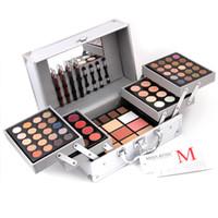 paleta de bronceador mate al por mayor-Miss Rose Face Powder Makeup Set Matte Shimmer Eyeshadow Palette Blockbuster Kit de maquillaje profesional Highlighter Bronzer