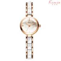 Limited Edition Women's Shock Resistant Famous Brand KIMIO Quartz-watch Women Watches 2016 Simulate Ceramic Ladies Bracelet Gold Watch Women Dress Women's Watches Clock