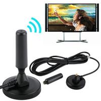 araba dvb toptan satış-Kapalı Kazanç 30dBi Dijital DVB-T / FM DTMB CMMB Karasal Anten PC için Xiaomi TV HDTV Araba