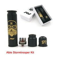 Wholesale Cap Times - Able Stormtrooper Kit Come with Able Stormtrooper Mod Battle RDA and Time Cap fit 18650 battery AV Able V3 DHL Free TZ700