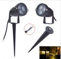 projecteur extérieur 9w achat en gros de-Chaud! ! ! DC12v / AC85-265V 3 * 3W 9W a mené la lumière souterraine a mené la lumière extérieure de pelouse lumière de lampe de jardin 10pcs / beaucoup