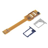 Wholesale Mobile Phones Double Sim Cards - Mobile Phone Double Dual SIM Card Adapter Use Two SIM for Samsung Galaxy Wholesale