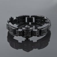 """Wholesale hip jewellery - Mens 8"""" Hip Hop Style Bling Iced Out Bracelet Jewellery Bling Bling Iced Bracelet Mens Bracelet"""