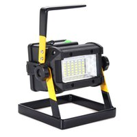 Wholesale Outdoor Plug Flood Light - Wholesale- Mising Portable Rechargeable RGB LED Floodlight 50W 36LED Flood Light Spot Work Camping Lamp Outdoor Light EU US Plug