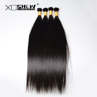 Wholesale Virgin Indian Hair China - 200gram 25-75cm Indian Hair Bulk 100% raw human hair material human hair bulk buy from china 7a brading straight virgin hair sell