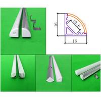 iluminación de tira de aluminio al por mayor-5 * 0.5 m 5 unids de 0.5 m 20 pulgadas Esquina led perfil de aluminio para cinta led y tira rígida, led gabinete triángulo barra de luz con 5050/5630 tira