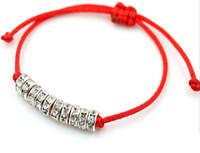 Wholesale good luck string bracelet resale online - Simple Stylish Crystal Red String Rope Bracelet Good Luck Bracelet For Women and Men Gift Adjustable Bracelet