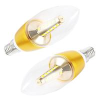 Wholesale Led Candelabra Bulbs 5w - Edison Bulb lights LED Candle Bulbs 5W Led light E14 360 Degree Emitting candelabra Lamp 110v 220v Lighting Chandelier Lamps