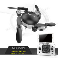 modlu rotor toptan satış-KY901 Mini Katlanabilir Drone Rc Selfie Drone Wifi FPV HD Kamera Irtifa HoldHeadless Modu ile RC Quadcopter Drone