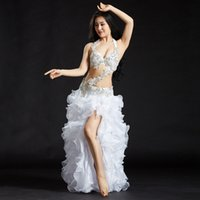 Wholesale new arrival costumes belly dance for sale - New Arrival Belly Dancing Oriental Dance Costumes Performance Bead Set Bra Belt Skirt Belly Dance Costume Set