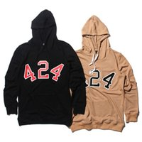 Wholesale Kpop Pullover - Men thin 424 four two four hip hop hoodie kanye west y ee z us streetwear women harajuku bigbang pullover hoodies kpop clothes