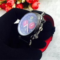 Wholesale Wristwatch Cars - Italy top brand Sports car watches F1 watches Leather Watch False three eye fashion sports Men's Watches Relogio Wristwatches