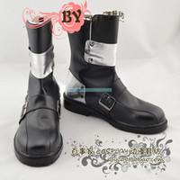 Wholesale Kirito Cosplay Black Sword - Wholesale-Custom Cheap Anime Sword Art Online Kirito Black PU Leather Cosplay Shoes