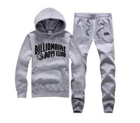 Wholesale Baseball Standards - S-5XL BILLIONAIRE BOYS CLUB Hoodies BBC Men Hip Hop suit Cotton Sweatshirts black letter spring Baseball uniform